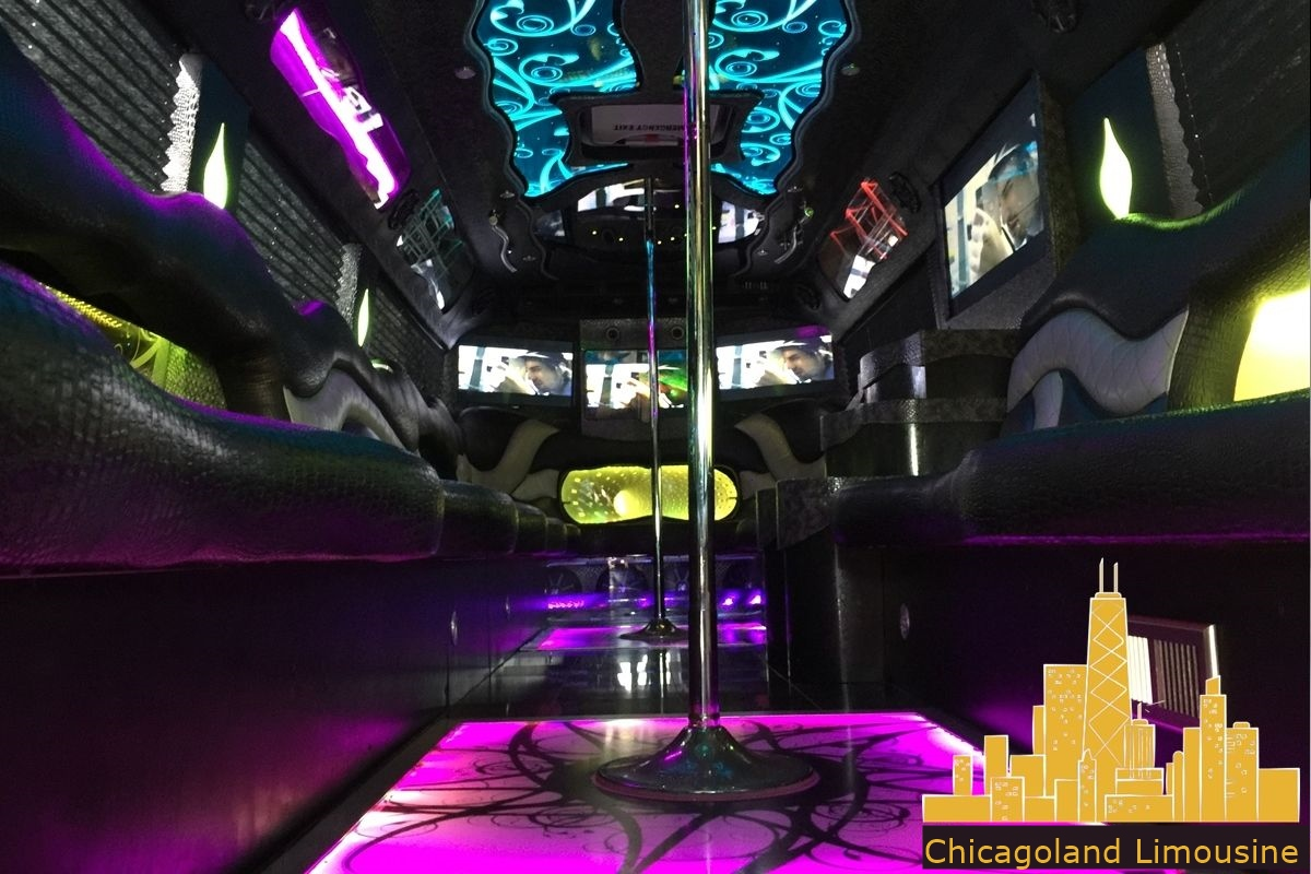 Limo Bus With Dance Pole